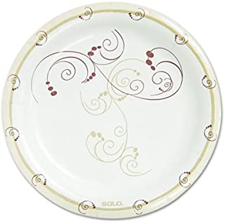 "product image for Symphony Paper Dinnerware, Mediumweight Plate, 8 1/2"", Tan, 500/Carton"