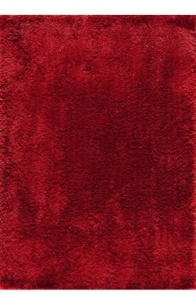 CENTRAL ORIENTAL Serene Shag Collection 100-Percent Polyester Rug, Red, 7-Feet 10-Inch by 9-Feet 10-Inch (Collection Serena Rug)