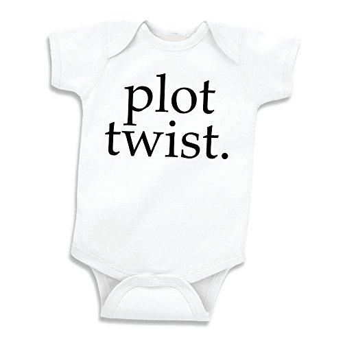 Bump and Beyond Designs Surprise Pregnancy Announcement Grandparents, Plot Twist (0-3 Months) Black ()