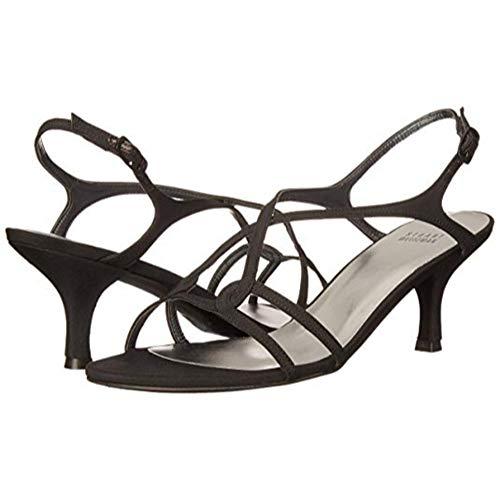 Stuart Weitzman Women's Reversal Sandal,Black Peau,6 M US