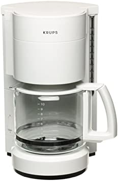Factory-Reconditioned Krups R321-71 Pro Cafe 10-Cup Coffee Maker, White
