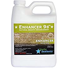 Enhancer 98 - Wet Look Sealer and Color Enhancer for Natural Stone Countertop Tile Bathroom Grout matte (Quart)