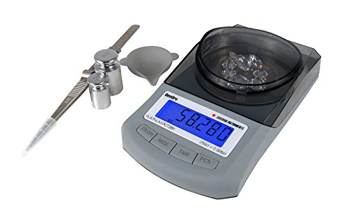GemOro Platinum PCT251 Digital Counter Top Portable Carat Jewelry Balance Scale (Door Battery Rubberized)