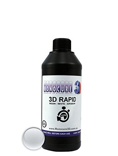 MONOCURE3D 3dr3583 W-500 Rapid resina, 500 ml, 17 ml, bianco