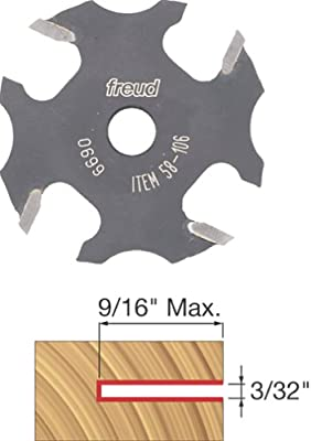 Freud 58-106 3/32-Inch 4-Wing Slot Cutter for 5/16 Router Arbor