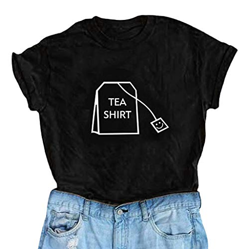 058c4ecb0b Onefa Womens Ladies T Shirt Eyelash Printing Summer Loose Tops Short Sleeve  Blouse