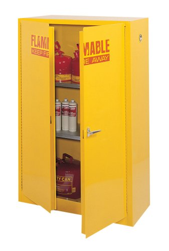 Edsal SC450F 43-Inch Wide by 18-Inch Deep by 65-Inch High 45-GallonTwo-Shelf Flammable Liquid Safety Cabinet, (Osha Flammable Storage)