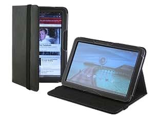 Cover-Up – Funda de cuero para Motorola Xoom Tablet (10.1 pulgadas) versión con soporte – color negro