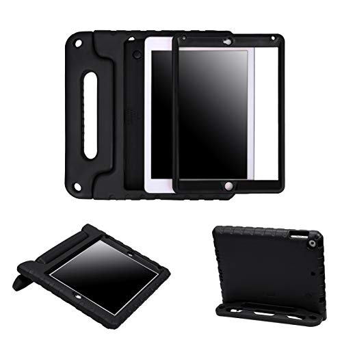 - HDE Case for iPad 9.7-inch 2018 / 2017 Kids Shockproof Bumper Hard Cover Handle Stand with Built in Screen Protector for New Apple Education iPad 9.7 Inch (6th Gen) / 5th Generation iPad 9.7 - Black