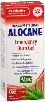 Alocane Maximum Strength Emergency Room Burn Gel 2.5 oz (Pack of 2) by Alocane