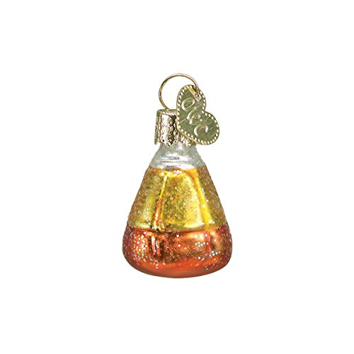 Old World Christmas Glass Blown Ornament with S-Hook and Gift Box, Halloween Collection (Mini Candy Corn) -