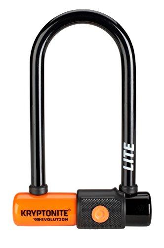 Kryptonite New-U Evolution Lite Mini-6 Heavy Duty Bicycle U Lock Bike Lock, 2.75 x 6-Inch