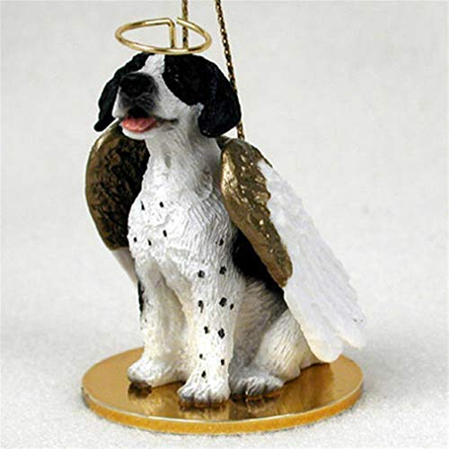 (Ky & Co YesKela Pointer Ornament Angel Figurine Hand Painted Black/White)