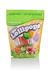 Xyloburst Lollipop Sugar Free with Xylitol, 25 Count Bag, Mixed Flavors