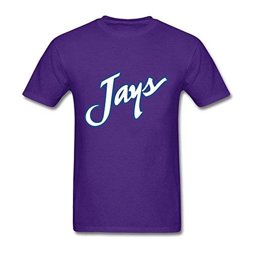 - Cool Men's Creighton University Blue Jays 100% Cotton Short Sleeve T Shirt Purple M Shirt