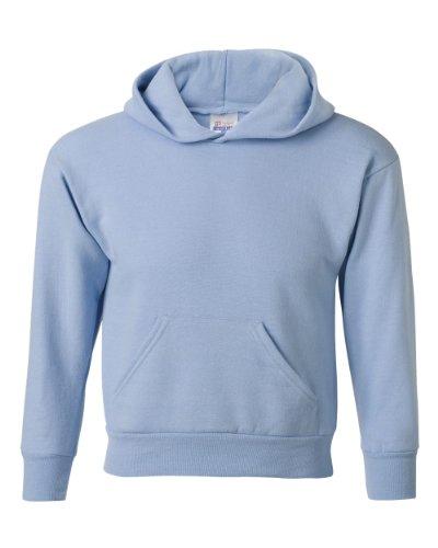 Hanes Youth ComfortBlend EcoSmart Hooded Pullover Fleece, Light Blue, Small