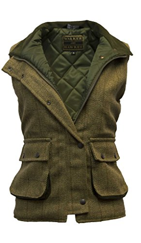 - Walker and Hawkes Women's Derby Tweed Shooting Waistcoat Country Gilet Light Sage US 8 (UK 12)