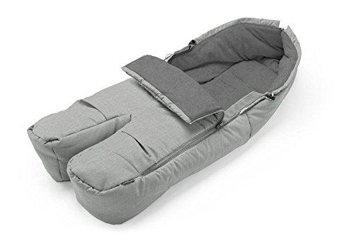 Stokke Stroller Seat Footmuff - Grey Melange