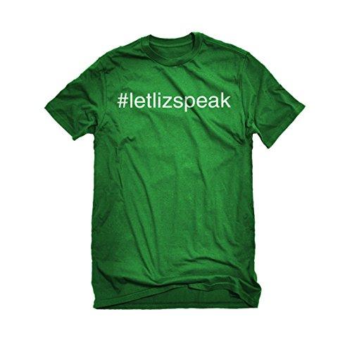 Womens Let Liz Speak T-Shirt Kelly Green Medium