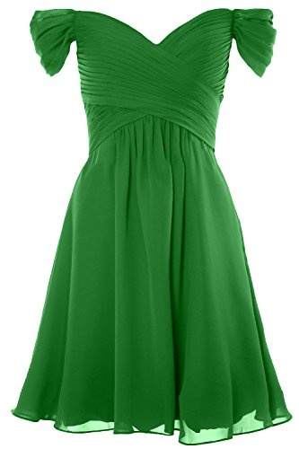 MACloth Women Off Shoulder Cocktail Dress 2018 Short Wedding Party Formal Gown Verde