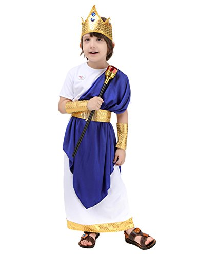 ROMASA Cosplay Children Costume Ancient Roman Poseidon (Ancient Roman Accessories)