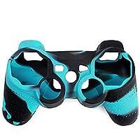 Generic PS2 PS3 Controller RS Silikon Schutzhülle für Sony PlayStation (blau + schwarz)