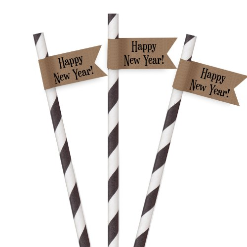 dress my cupcake 24 pack striped dessert table label kit pennant kraft happy new year black buy online in oman kitchen products in oman see prices