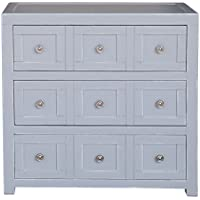 Apothecary Style Drawer Fronts Wood Chest With Finish DS-D153-002