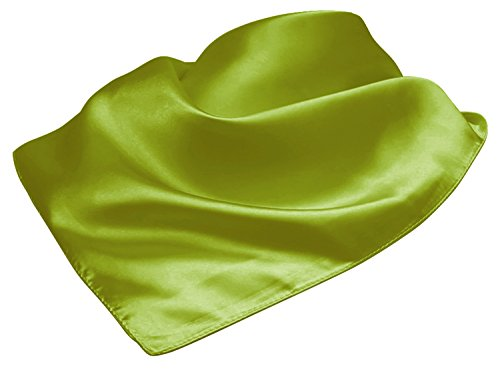 LL Ladies Neckerchief Pretty Silky Square Scarf Vintage Inspired Avocado (Flight Attendant Costume Pattern)