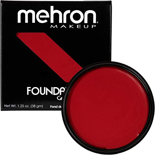 Mehron Makeup Foundation Greasepaint (1.25 oz) (REALLY BRIGHT RED)]()