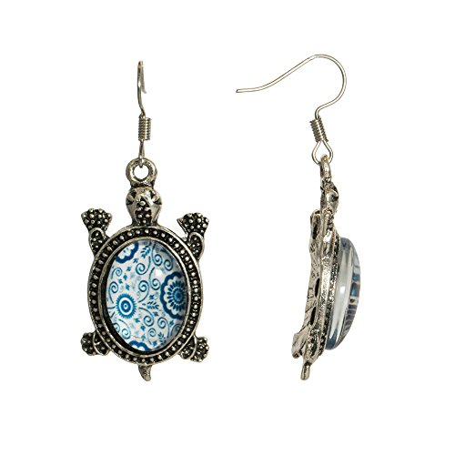 Cute Silvertone Goldtone Dangle Girls Womens Earrings Fish hook Jewelry ()