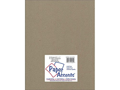 Accent Design Paper Accents ExtraHeavyNat Chipboard 8.5x11 XL Heavy 32pt Natural ()