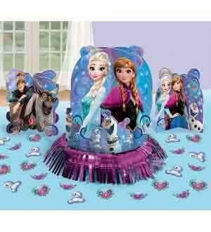 Party Centerpiece Birthday Table (Disney Frozen Magic Elsa Anna Birthday Party Table Centerpiece Decoration Kit)