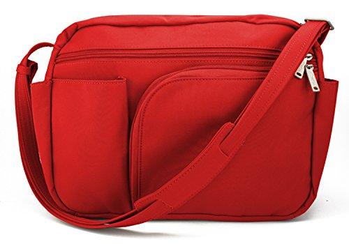 Be Safe Bags Anti-Theft Large Travel Shoulder Bag, 10 Pocket