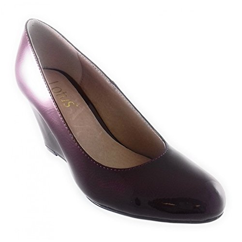 Lotus Cache Red Crinkle Patent Wedge Shoe RGU4q