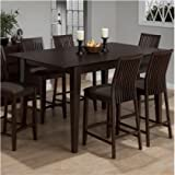 Jofran Counter Height Rectangle Dining Table in Ryder Ash