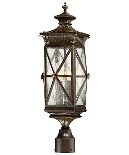 Minka Lavery Minka 9316-586 Transitional Four Light Post Mount from Rue Vieille Collection in Bronze/Darkfinish, 8.75 Inches 8.75 Inchesfour by Minka Lavery (Image #1)