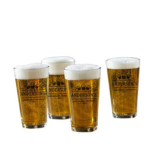 Personalized Pint Glasses - Set of 4-3 -