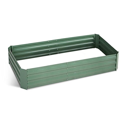 FOYUEE Raised Garden Bed Boxes, ElevatedGarden Planting Beds for Growing at Home-a Wonderful Decoration in the Yard 18055 5x3x1 Feet(Green Matte) by FOYUEE