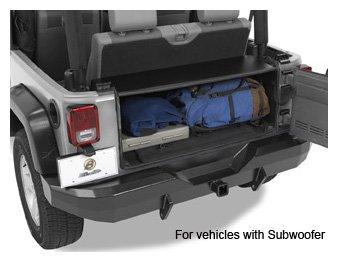 Bestop 42636-01 Instatrunk Storage Box for 07-10 Wrangler JK including Unlimited without factory subwoofer