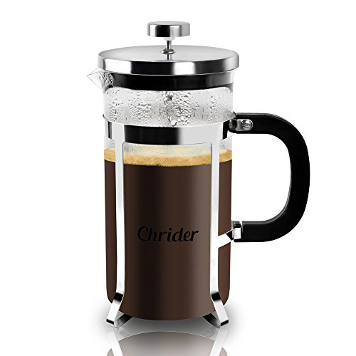 Why Choose Chrider French Press Coffee Maker - 34oz (8 Cup, 1 Liter) Espresso & Tea Maker - Best 4 L...