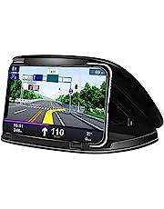 Autotelefoonhouder Wiegen, Universele Mobiele Telefoon Autohouder Dashboardhouder Geschikt voor 3-6,8 Inch Apparaten Zwart
