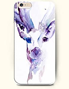 OOFIT Hard Phone Case for Apple iPhone 6 Plus ( iPhone 6 + )( 5.5 inches) - Purple Reinbeer - Oil Painting