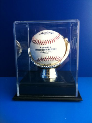 Golden Glove Ball Case - Single - Sports Memoriablia Display (Baseball Display Case Gold Glove)