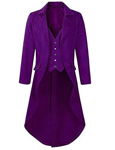 Victorian Jacket for Women Plus Size Purple Party Costume Men Circus Ringmaster -