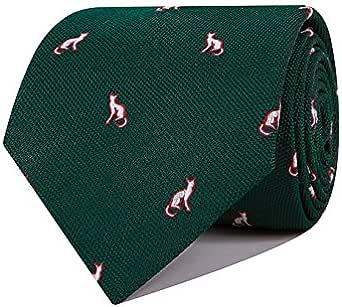 SoloGemelos - Corbata De Seda Verde Con Gatos - Verde - Hombres ...