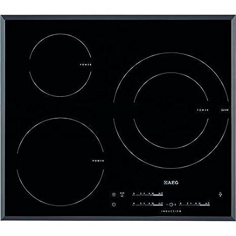 AEG HK6532H2FB hobs Negro Integrado Con - Placa (Negro, Integrado, Con placa de inducción, 2500 W, 14,5 cm, 3700 W)