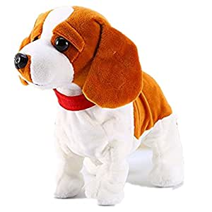 Sound Control Electronic Dogs Interactive Electronic Pets Robot Dog Bark Stand Walk Somersaults Electronic Toys Dog For Children Birthday Christmas Gift-Pekingese Dog