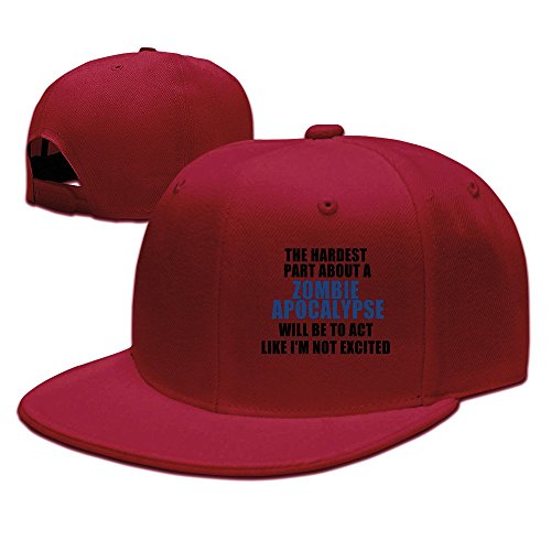 Hardest Part About A Zombie Apocalypse Adjustable Cap Flat Bill Baseball Cap -