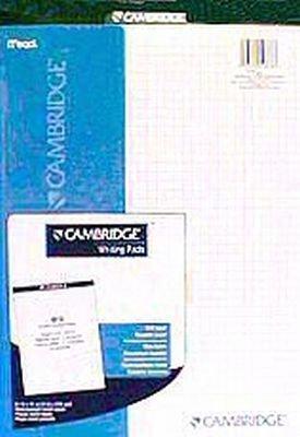 Mead Cambridge Stiff-Back Planning Pad,Quad Ruled, 8.5